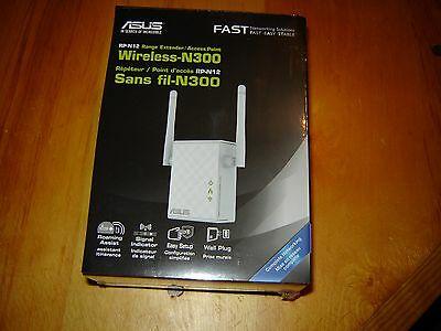 ASUS RP-N12 Wireless N300 Range Extender/Access Point
