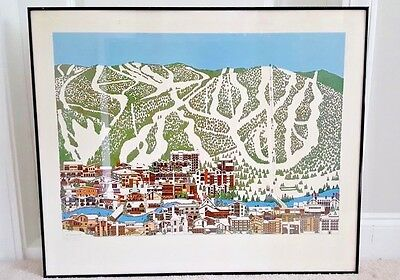 "Jan Davidson ""Vail"" Lithograph ~ Ski ~ Embossed ~ Limited Edition/Numbered ~1985"