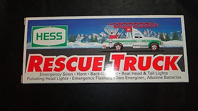 1994 Hess Toy Truck - Rescue Truck New In Box