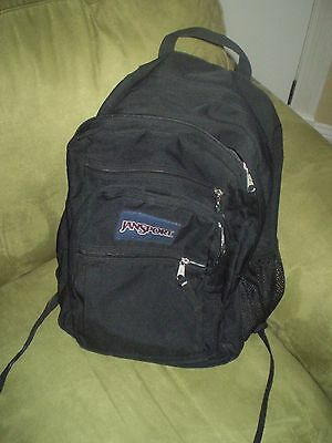 JANSPORT Black Padded Straps STUDENT BACKPACK BOOKBAG EUC