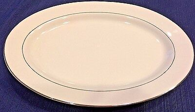 """Tienshan Fine China~CLASSIC GOLD~12"""" Oval Serving Platter~Excellent Condition!!"""