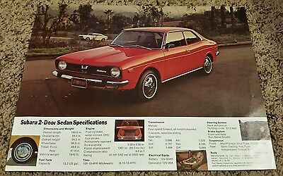1970's Subaru 2-Door Sedan Sales Brochure
