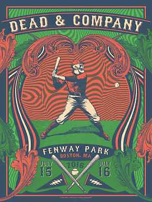2016 Grateful Dead & Company Boston Fenway Concert Poster #/100 7/15 Ae Helton