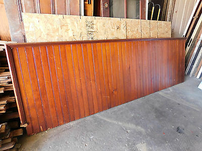 Antique Victorian Style Beadboard Stair Railing - 1890 Fir Architectural Salvage