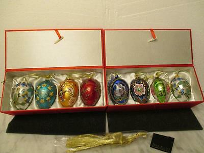 Joan Rivers Russian Inspired Faberge Egg Collection Ornaments 2 Boxes New Lovely