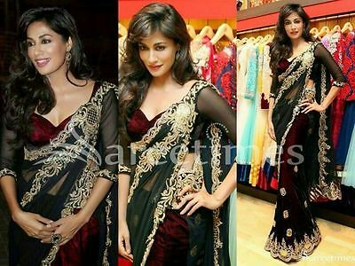 Indian Ethnic Designer Saree Bollywood Replica Sari Party Wear Dress Traditional
