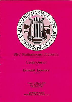1986 Cecile Ousset piano Edward Downes Sheffield BBC Philh programme