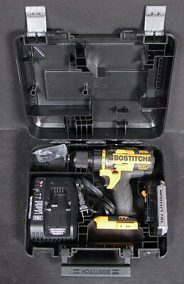 "Bostitch BTC400LB 18v 1/2"" Lithium Ion Drill Driver With Battery, Charger & Case"