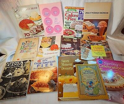 BIG Mixed Lot of Vintage Cookbooks Recipe Booklets Brand Name Promo 1960s-2000's