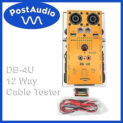 Post Audio DB-4U Cable Tester Tests 12 Kinds of Cables Includes Battery & Probes