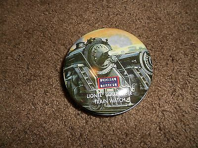 Lionel Collectible Train Watch in Round Tin, Watch Makes Train Sounds 341541,New