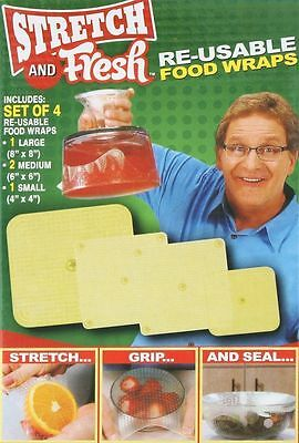 Hot Stretch and Fresh Re-usable Food Wraps As Seen On TV Kitchen Tools