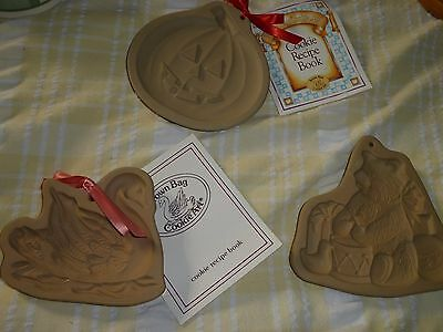 3 Brown Bag Cookie Molds Swan Bear And Pumpkin New 2 With Tags