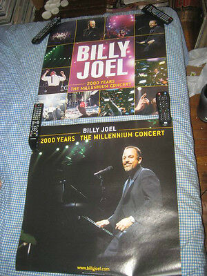 BILLY JOEL-(2000 years-millennium concert)-1 POSTER-2 SIDED-24X24-NMINT-RARE