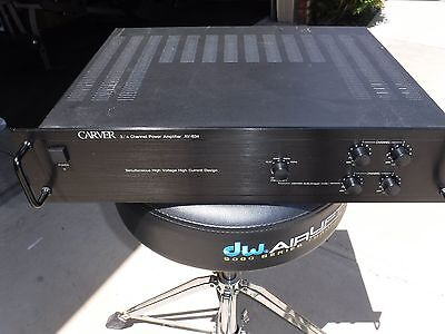 CARVER AV-634 Audio Video 3/4 Channel Amp with Active Crossover.  Box and Manual