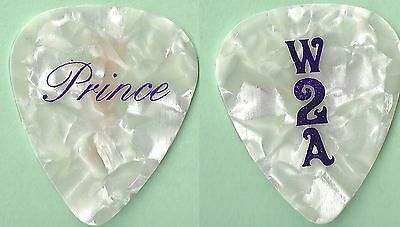 """Prince Welcome To America Tour """"W2A"""" Guitar Pick"""