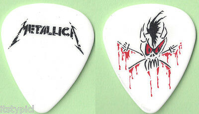 Metallica 2012 Scary Guy Guitar Pick White
