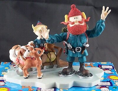 Enesco Rudolph & Island of Misfit Toys Figurine #875309 Good Friends Stick Toget