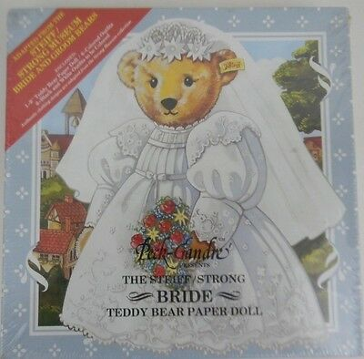 Peck-Gandre Presents the Steiff/Strong Bride Teddy Bear Paper Doll Unopened NEW