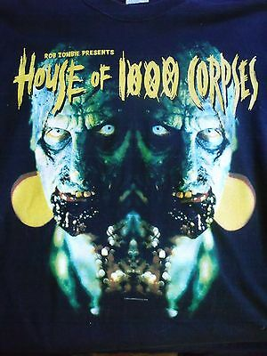 SUPER RARE Rob Zombie House of 1000 Corpses Shirt from tour 2002 Demonoid Deluxe