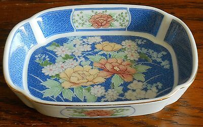 A small Hand decorated Porcelain Dish floral pattern