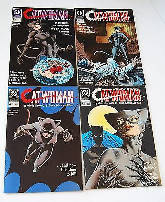 Catwoman #1-4 VF/NM 9.0 (1988, DC) Complete Mini-Series Batman Gotham
