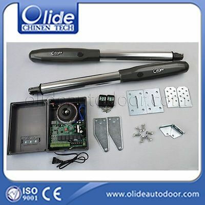 Olide Swing Gate Opener Double Arm with Photocell, Alarm Lamp, Electric Latch