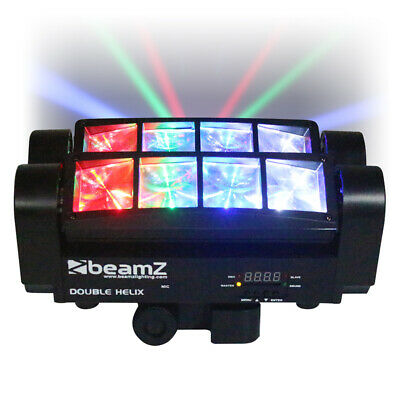 BeamZ MHL820 Double Helix 8x 3W RGBW CREE LED DMX DJ Lighting Disco Club Light