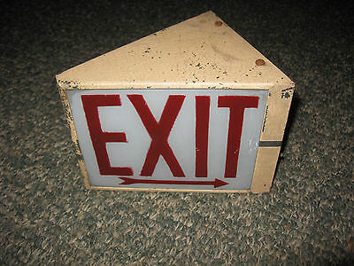 Vintage Art Deco Exit Sign
