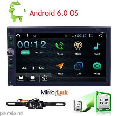 "2016 Quad Core 7"" Touch Panel Android 6.0 Car Radio Stereo DVD Player GPS OBD2"