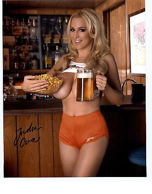 Jordan Carver Signed 8x10 Photo Autographed auto busty internet glamour model #I