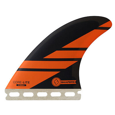 Shapers Fins - Corelite X-Small (Futures) - Orange - Thruster - Surfboard Fins