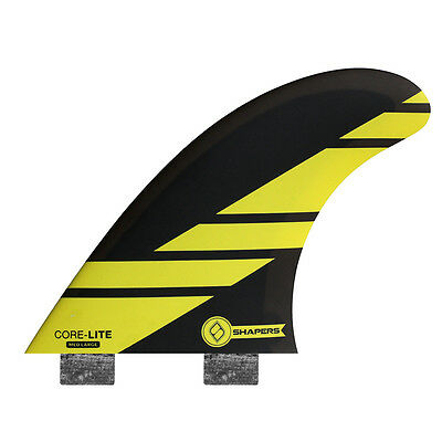 Shapers Fins - Corelite Medium-Large (FCS) - Yellow - Thruster - Surfboard Fins