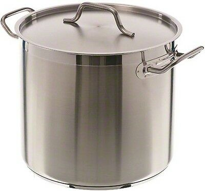 Update International (SPS-16) 16 Qt Induction Ready Stainless Steel Stock Pot