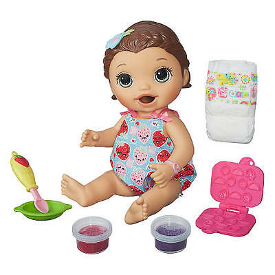 Baby Alive Super Snacks Snackin Lily Brunette New Eat Poop Shipped Same Day