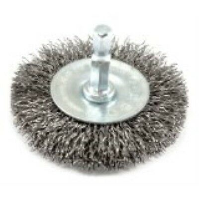 Forney 72733 Wire Wheel Brush, Coarse Crimped with 1/4-Inch Hex Shank, 2-1/2-Inc