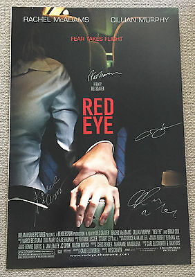 WES CRAVEN RACHEL McADAMS CILLIAN MURPHY Signed RED EYE 27x40 Movie POSTER