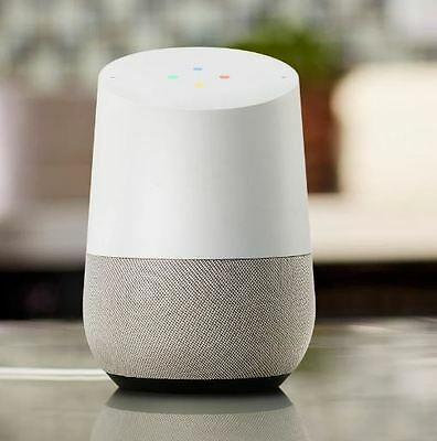 New Google Home, White-Slate Base, 6Mo YouTube RED, 1Yr US Warranty, Global Ship