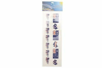 2 x Australia Day souvenir long arm tattoos flag print Wholesale lot