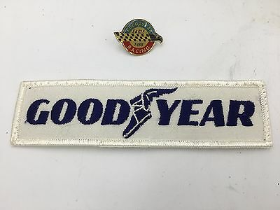 Goodyear Wingfoot Embroidered Patch & 1988 Eagle Racing 1988 Enamel Hat Pin SM