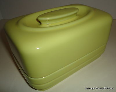 Vintage Hall China Yellow Covered 1 pound Butter Dish Westinghouse Advertising