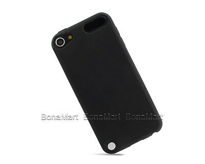 Soft Gel Silicone Rubber Back Case Cover Skin For iPod Touch 5 5G 5th Black