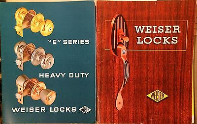 Lot of 2 Vintage 1960s Weiser Lock Key Secure Entry Catalog