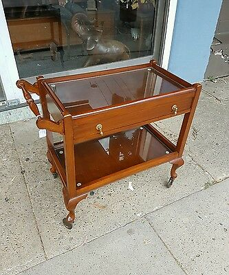 Antique Tea Trolley Vintage Tray Mobile