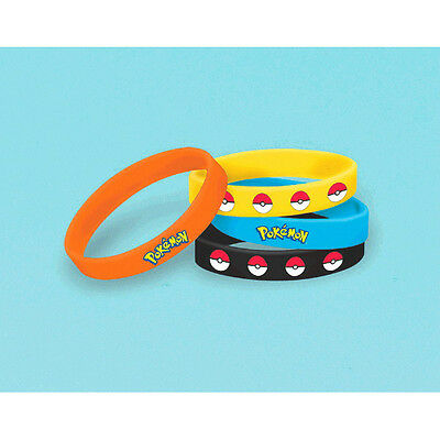 Pokemon Pikachu Friends Rubber Bracelet Wristbands Birthday Party Favor Supplies