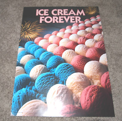 Ice Cream Truck Poster - Ice Cream Forever  - Red White And Blue Patriotic