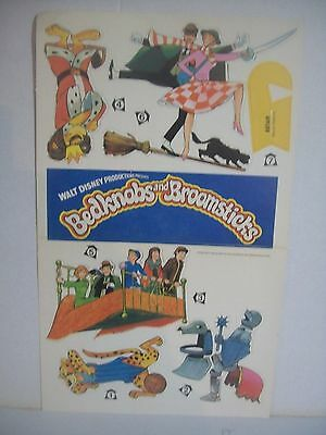 Disney's BEDKNOBS and BROOMSTICKS unused 1971 mobile ENGLAND record advertising