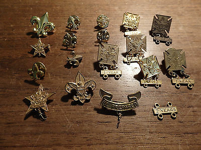 17 Boy Scout Rank and service pins