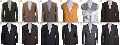 "JOB LOT OF 18 VINTAGE MEN""S SUIT JACKETS -Mix of Era's, styles and sizes (17988)"