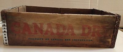 Canada Dry Wooden Crate